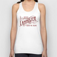 lannister Tank Tops featuring House Lannister Typography by P3RF3KT