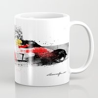 senna Mugs featuring AYRTON SENNA MP4-4 by Michele Leonello
