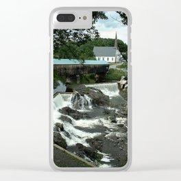 Bath Covered Bridge Clear iPhone Case