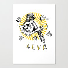 Tattoos and Diamonds are Forever Canvas Print