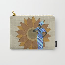 Sunflower Lady Carry-All Pouch