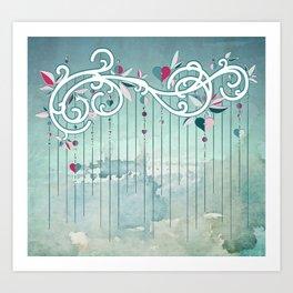 Heart Candy Raincloud Art Print
