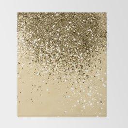 Cali Summer Vibes Lady Glitter #1 #shiny #decor #art #society6 Throw Blanket