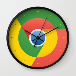 Chrome - Graphic Art - Style - 1 Wall Clock