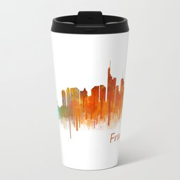 Frankfurt am Main, City Cityscape Skyline watercolor art v2 Travel Mug