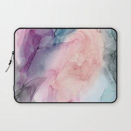 Dark and Pastel Ethereal- Original Fluid Art Painting Laptop Sleeve