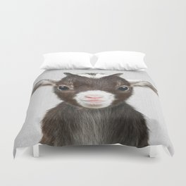 Baby Goat - Colorful Duvet Cover