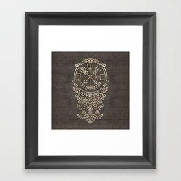 Vegvisir and Tree of life  - Yggdrasil Framed Art Print