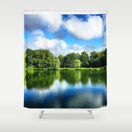 Clear & Blurry  Shower Curtain