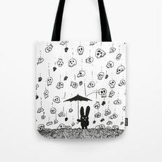 I'm only happy when it rains (skulls) Tote Bag