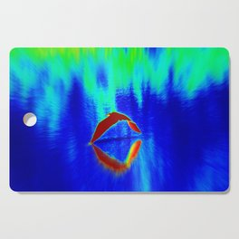 Egret Abstract Cutting Board