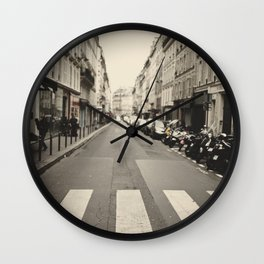 The streets of Paris, France Wall Clock