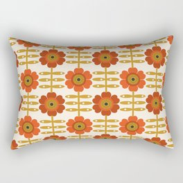 Famoo - floral retro 70s style throwback 1970's flower pattern Rectangular Pillow