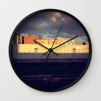 queens of the stone age Wall Clocks featuring Queens by Alissa Fleck