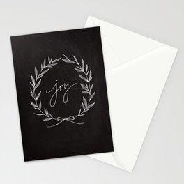 Chalkboard Art - Joy Wreath Stationery Cards
