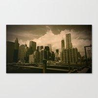 manhattan Canvas Prints featuring Manhattan  by metalmind