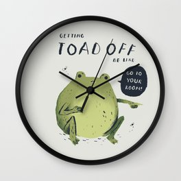 Toad off Wall Clock