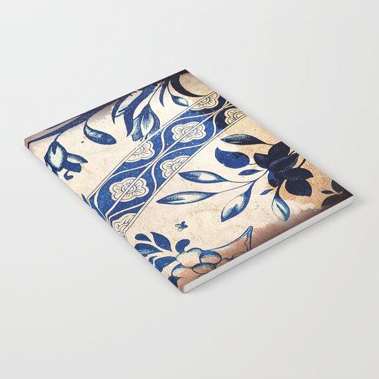 Blue Oriental Vintage Tile 04 Notebook