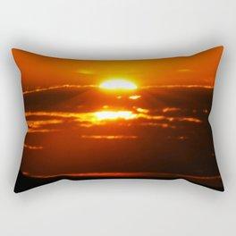 Sunrise makes the day bliss Rectangular Pillow