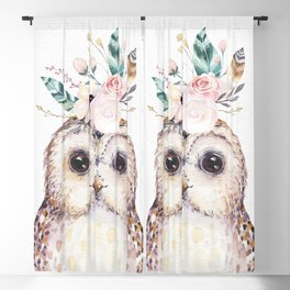 Forest Owl by Nature Magick Blackout Curtain