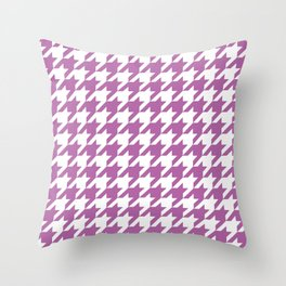 Radiant Orchid Houndstooth - Baby Stimulation Pattern Throw Pillow