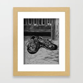 Shoes to Fill Framed Art Print