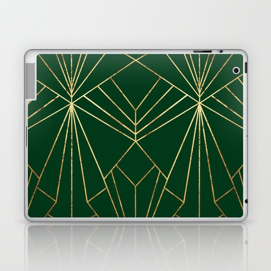 Art Deco in Gold & Green - Large Scale by wellingtonboot