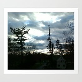 View from Dorm Art Print