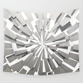 Grey Sunburst Wall Tapestry