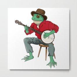 Banjo Playing Frog Metal Print