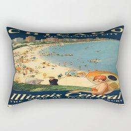 Vintage poster - Chicago Rectangular Pillow
