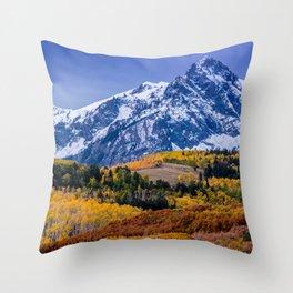 Sneffels Range Fall Sunrise - Colorado Throw Pillow