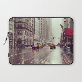 nyc street rain Laptop Sleeve