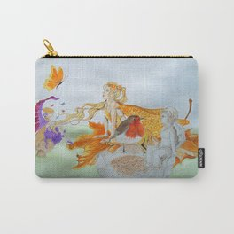 Watercolour painting of 'Fantasy' Carry-All Pouch