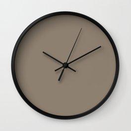 Mulch Brown English Country Wedding Wall Clock