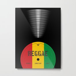 VINYL MUSIC / Reggae Metal Print