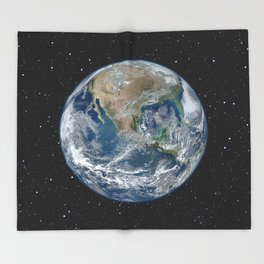 EARTH FROM SPACE Throw Blanket