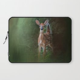 Woodsy Summer Fawn Laptop Sleeve