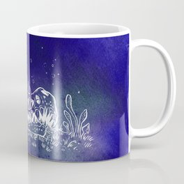Dino skull – Blue Coffee Mug