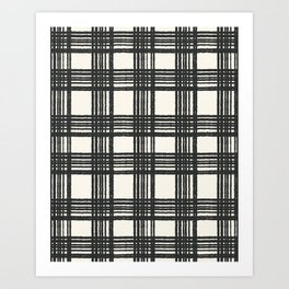 Vintage Modern Plaid Art Print