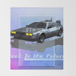 Back to the Future Throw Blanket