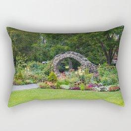 Blithewold Flower Garden Rectangular Pillow