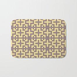 Minimalist Scandinavian Cross Nordic Yellow Bath Mat