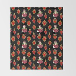 Sacred Hearts and Frida Throw Blanket