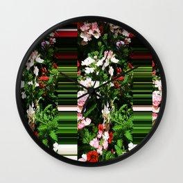 01/02/2017- Flowers Sliding Away Wall Clock