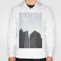 detroit Hoodies featuring Downtown Detroit by Michelle & Chris Gerard