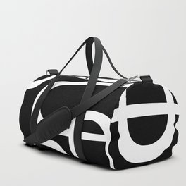 Midcentury Modern Loops Pattern in White and Black Duffle Bag