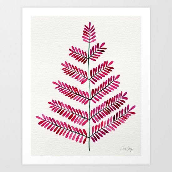Pink Leaflets Art Print