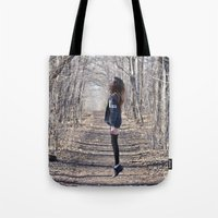 ghost Tote Bags featuring Ghost by Valerie Bee