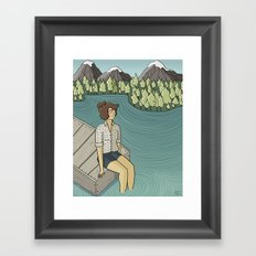 Lake Time Framed Art Print